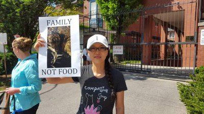 EK at Demonstration Against Yulin in Toronto