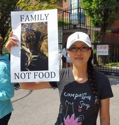 EK demonstrating against the Yulin festival