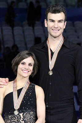 Meagan Duhamel and Eric Radford at 2015 World Figure Skating Championships. © David W. Carmichael